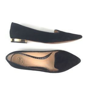 Tory Burch Connely Smoking Slipper Suede Flats